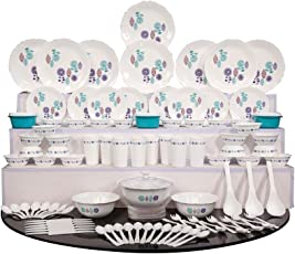 Cutting Edge Plastic Dinner Set, 101 Pieces - Purple