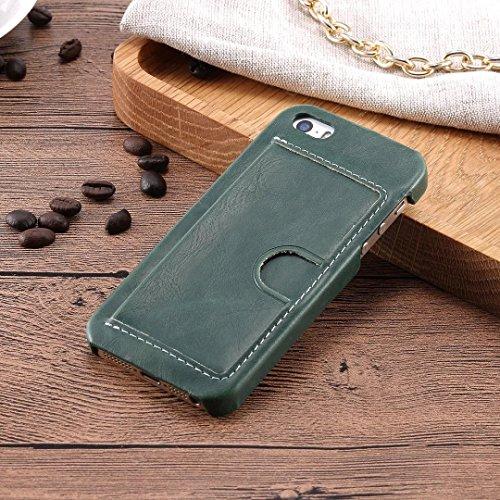iPhone Case Cover Normaler Farben-Kasten PU-lederne Abdeckung mit U-Entwurfs-Einbauschlitz für iPhone 5 5S SE ( Color : F , Size : IPHONE 5S SE ) B