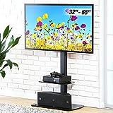 FITUEYES Meuble TV avec Support Télé Pied Suspendu Pivotant pour Plasma TV/LCD de...