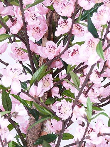 artplants Set 2 x Künstlicher Kirschblütenbaum Kaguya, 925 Blüten, rosa, 210 cm – Kunstbaum/Dekobaum