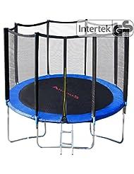 Outdoor Trampoline Extérieur jardin avec filet de sécurité et échelle 8 ft 244 cm Fitness Trampoline