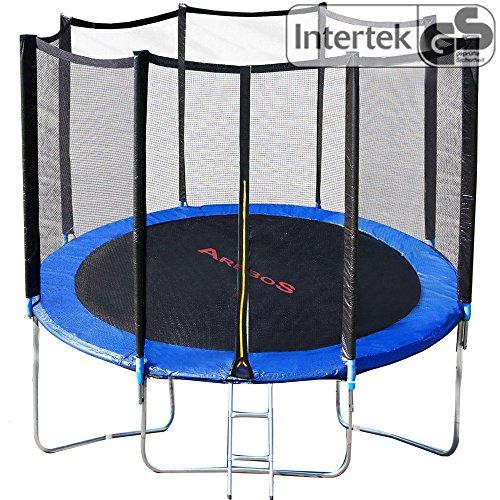 Outdoor Trampolin 305 cm Gartentrampolin mit Sicherheitsnetz und Leiter Komplett Set