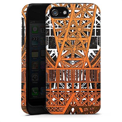 Apple iPhone 5 Housse étui coque protection Paris Tour Eiffel Motif Cas Tough terne
