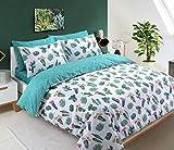 clicktostyle New design moderno set copripiumino in policotone con di biancheria da letto, Tropical Cactus, Singolo
