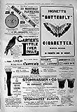 Cigarettes 1901 de Hignett de Montre de Bensons de Publicité Stohwasser Ogdens