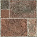 60 piastrelle da pavimento in vinile, autoadesive, per cucina/bagno, motivo: effetto pietra stagionata - 187
