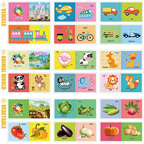 TEYTOY NEWEST 6pcs Soft Book for Babies Toddlers, Safe Nontoxic Biteable Cloth Book Toy for Early Education Intelligence Development Best Gift for Your Unique Baby