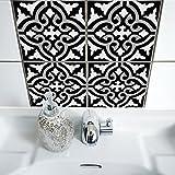 Boubouki Wasserabweisende Fliesenaufkleber RIMAL 17 für Bad und Küche | 15 x 15 cm