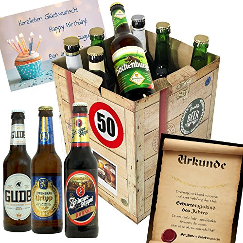 """Geburtstagsgeschenke für Männer zum 50. """"BIERE aus DEUTSCHLAND"""" Bier Geschenk Box + gratis Geschenkkarten + Bierbewertungsbogen. Brauerei Eller + Schlappeseppel + Tegernseer + ... Bierset + Biergeschenk mit Bier aus ganz Deutschland. Biergeschenke Geschenkideen. Besser als Bier selber machen oder selbst brauen: Geschenk 30 Geburtstagsgeschenke geschenke für männer geschenkidee geschenk idee geschenk für Freund 50 geldgeschenke 50 geburtstag Geschenken Geschenke für Männer zum Geburtstag 50 Männer"""