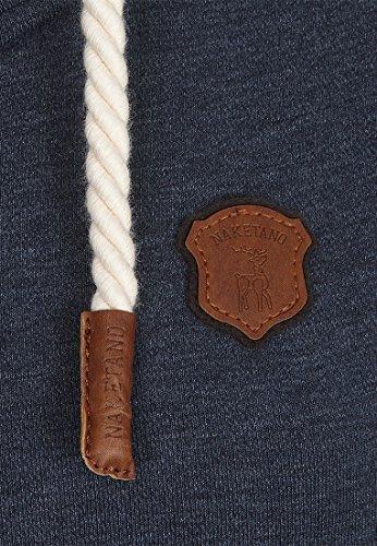 Naketano Female Zipped Jacket F... Me 2 Times! Indigo Blue Melange