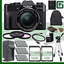 Fujifilm X-T10 Mirrorless Digital Camera With 18-55mm Lens (Black) + 8GB + 16GB Green's Camera Bundle 6