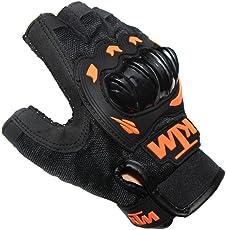 EASY4BUY Bike Riding Half Finger Gloves Set of 2-Black (M Size)