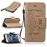 BONROY iPhone 5 5S 5SE PU Ledercase Tasche Hüllen Schutz Hülle Scratch Magnetverschluss Telefon-Kasten Handy Hülle Standfunktion Handycover-