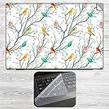 Colorful Birds on Branch Laptop Skin + S...