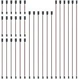 GTIWUNG 30Pcs Cable de Extension Servo, 100mm/150mm/300mm/500mm/600mm Jr Servo Extensión, Servo Cable de Extensión, JR Recept