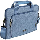 Evecase Apple iPad Pro 12.9 / MacBook Pro 13, 13.3 inch MacBook Pro Laptop Shoulder Bag / Suit Fabric Multi-functional Briefcase Carrying Messenger Case Tote Bag w/ Handle and Shoulder Strap - Blue