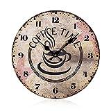 Vintage Esszimmer Wand Uhr / Dekouhr / Bahnhofsuhr aus Holz
