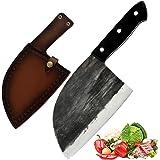 Couteau de Chef japonais fait à la main Promithi, couteau de boucher, couteau à désosser, couteau Santoku, couteau à viande,