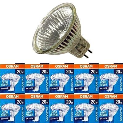 10 Stck Osram Decostar51 Halogen Kaltlichtspiegellampe 44860 Wfl Gu53 12volt 20watt 36grad von Osram
