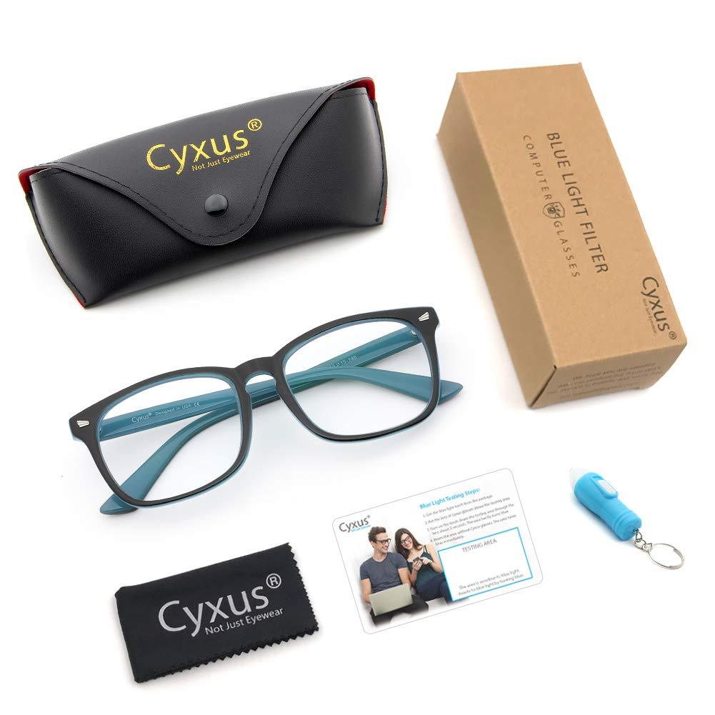 8b3180cda2 Cyxus Blue Light Filter Computer Glasses for Blocking UV Headache ...