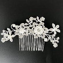 Epingle à cheveux Txian pour mariage, demoiselle d' avec des fleur, des strass, des perles