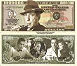 Novelty Dollar Humphrey Bogart Million Dollar Bills x 4 American Icon Film Actor New