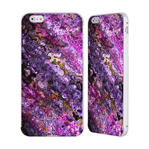 Ufficiale Shelly Bremmer Boccioli Astratto Colorato Argento Cover Contorno con Bumper in Alluminio per Apple iPhone 5 / 5s / SE Campo Di Lavand