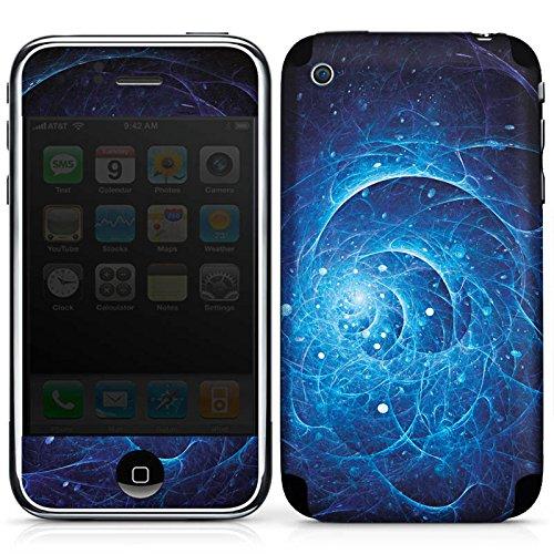 DeinDesign Apple iPhone 3Gs Folie Skin Sticker aus Vinyl-Folie Aufkleber Strom Power Galaxie