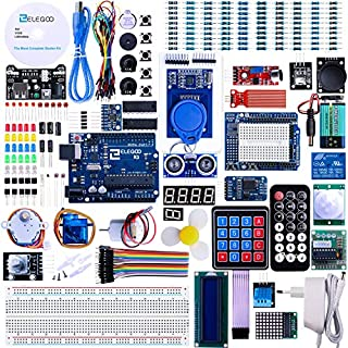 ELEGOO R3 Project The Most Complete Ultimate Starter Kit w/TUTORIAL, R3 controller board, LCD1602, Servo, Stepper Motor, Compatible with Official R3 Project