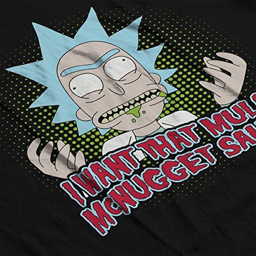 Rick And Morty Mulan McNugget Dipping Sauce Women's Hooded Sweatshirt Black