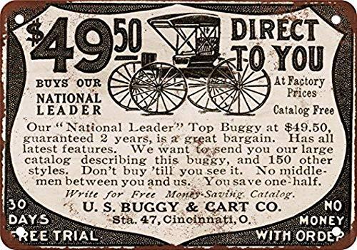 ABLERTRADE Abletrade US Buggy & Cart Co. Retro-Metallschild, personalisierbar, 20 x 30 cm