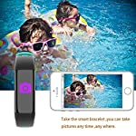 Fitness Health Tracker With Color Screen Smart Watch Heart Rate Monitor CalorieStep Counter Blood Pressure Sleep Monitor IP67 Waterproof Activity Tracker Sport Bracelet Wristband For IOSAndroid