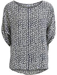 Object Evy Haik Damen Wasserfall-Top | T-Shirt rundhals mit Naht und Wasserfall-Ärmeln