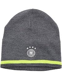 adidas DFB Beanie - Gorro unisex, color gris/lima