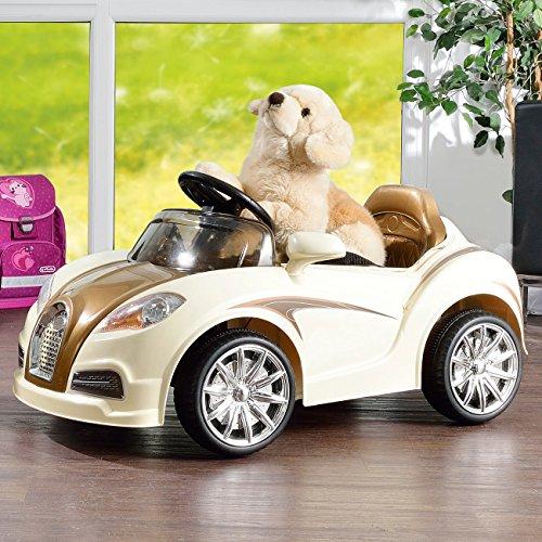 RC Auto kaufen Kinderauto Bild 3: Playtastic Kinderelektroauto: Edles Elektro-Kinderfahrzeug mit Fernsteuerung (Kinderauto)*