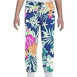 Yesbnow Adolescentes Niños Niñas Pantalones de chándal Pantalones Deportivos Deportivos o Loungewear con Estampado Hawaiano