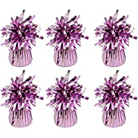 MEGA VALUE 6 x Baby Pink Foil Helium Balloon Weights Ideal Party Decoration Accessory
