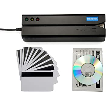 3f4c2b62903 Deftun MSR605X USB Magnetic Stripe Swipe Credit Card Reader Writer Encoder  MSR206