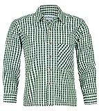 Isar-Trachten Jungen Kinder Baumwoll-Trachten Hemd Kariert Tanne, Tanne, 152