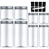 MEIXI Bocal Plastique Transparent, Bocaux en Plastique Pots de Stockage Récipient de Stockage en Plastique Récipient de…
