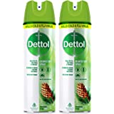 Dettol Disinfectant Spray Sanitizer for Germ Protection on Hard & Soft Surfaces, Original Pine, 225ml, Pack of 2