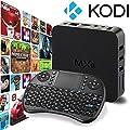 [Free Wireless Mini keyboard] Unban ® Quad Core MXQ Smart TV BOX Mini PC Streaming Media Player with KODI(XBMC) Streamer 1GB/8GB, Fully Loaded,Google Android 4.4 KitKat,CPU Amlogic S805, 1.5 GHz