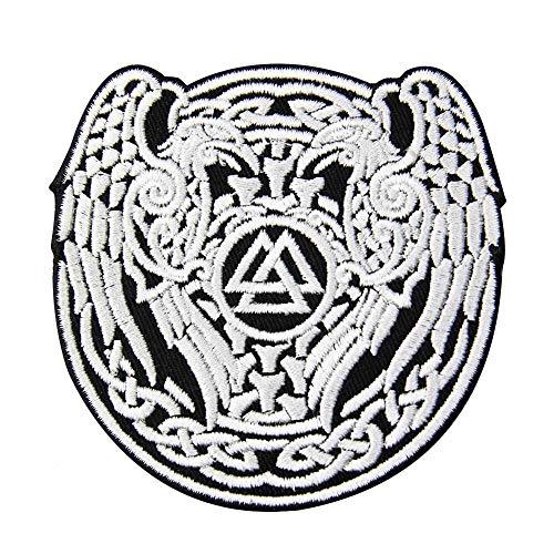 Valknut - Parche bordado para planchar o coser, diseño de triángulo vikingo