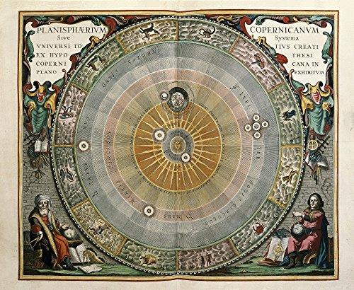 Atlas Coelestis Seu Harmonia Macrocosmica (Amsterdam1661) by Andreas Cellarius Poster Drucken (91,44 x 60,96 cm)