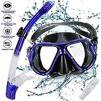 Gifort Máscara de Buceo, Snorkel Máscara, Máscara de Snorkel, Máscara Facial Completa con Tubo (dark blue)