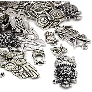 OWL HA07455 - Charming Beads Pack of 30 Grams Mixed Tibetan Random Shapes /& Sizes Charms -