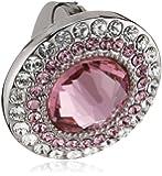 Swarovski Damen-Charm Metall Kristall Solitaire Clip rosa 1.4 x 1.4 cm 5002664