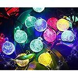 Uping Guirlande Lumineuse Solaire, 30 LED Boules 6,5m 8 Modes, Décoration Extérieur&Intérieur Jardin Maison Fête Cérémonie(Multicolore)