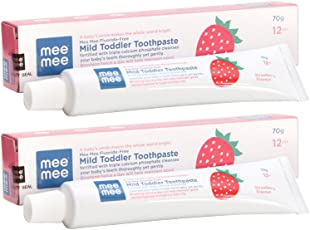 Mee Mee Fluoride-Free Toothpaste, Strawberry, 70g (Pack of 2)