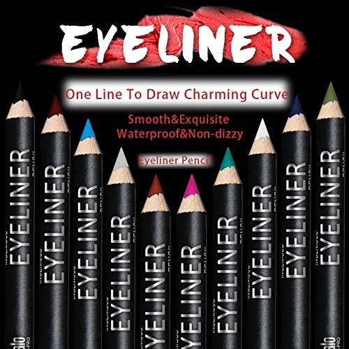 Ucanbe Eyeliner Pencil set Pack of 12 color